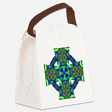 Blue Green Celtic Knot Celtic Cro Canvas Lunch Bag