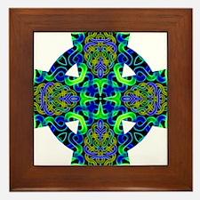 Blue Green Celtic Knot Celtic Cross Framed Tile
