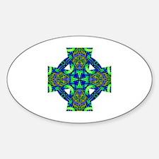 Blue Green Celtic Knot Celtic Cross Decal