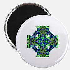 Blue Green Celtic Knot Celtic Cross Magnet