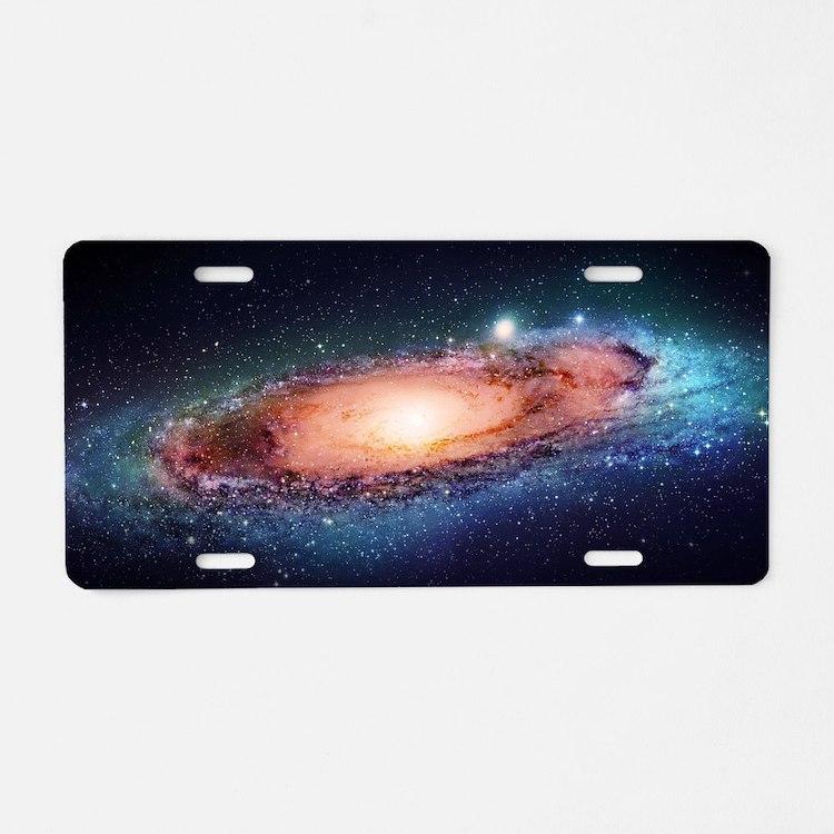 Milky Way Aluminum License Plate