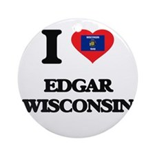 I love Edgar Wisconsin Ornament (Round)