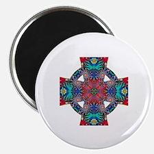Tropical Daisies Celtic Cross Magnet