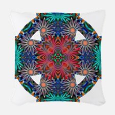 Tropical Daisies Celtic Cross Woven Throw Pillow