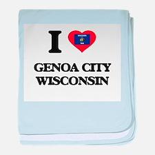 I love Genoa City Wisconsin baby blanket