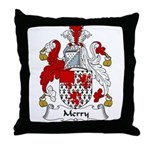 Merry Family Crest Throw Pillow