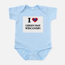 I love Green Bay Wisconsin Body Suit