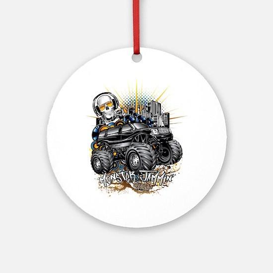 Monster Truck Jammin Round Ornament