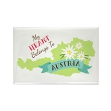 My Heart Belongs To Austria Magnets