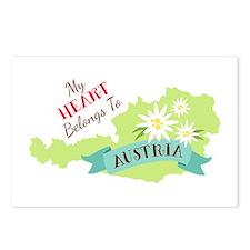 My Heart Belongs To Austria Postcards (Package of