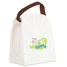 My Heart Belongs To Austria Canvas Lunch Bag