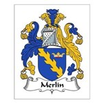 Merlin Family Crest Small Poster