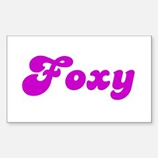 Foxy Rectangle Decal
