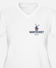 Nantucket - Massa Women's V-Neck Plus Size T-S