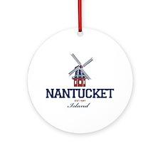 Nantucket - Massachusetts. Ornament (round)