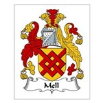 Mell Family Crest Small Poster
