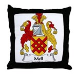 Mell Family Crest Throw Pillow
