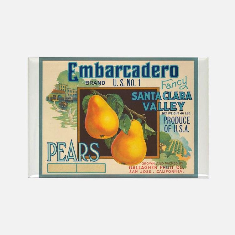 Embarcadero Pears Rectangle Magnet