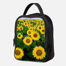Field of Sunflowers Neoprene Lunch Bag