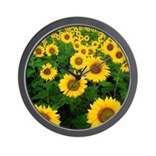 Field of Sunflowers Wall Clock