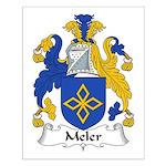 Meler Family Crest Small Poster