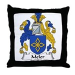 Meler Family Crest Throw Pillow