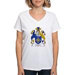 Meler Family Crest Women's V-Neck T-Shirt