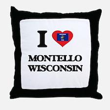 I love Montello Wisconsin Throw Pillow