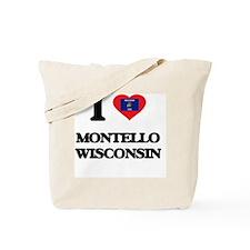 I love Montello Wisconsin Tote Bag