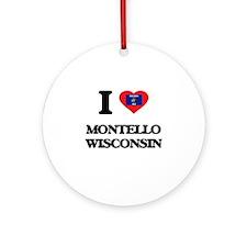 I love Montello Wisconsin Ornament (Round)