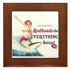 Redheads do everything better Framed Tile