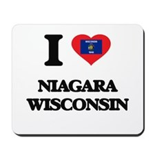 I love Niagara Wisconsin Mousepad