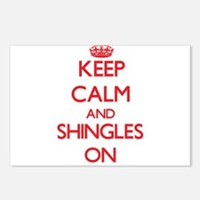 Keep Calm and Shingles ON Postcards (Package of 8)