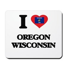 I love Oregon Wisconsin Mousepad