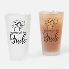 Mother of the Bride - Bird Couple Drinking Glass