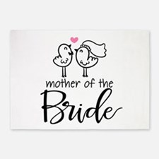 Mother of the Bride - Bird Couple 5'x7'Area Rug