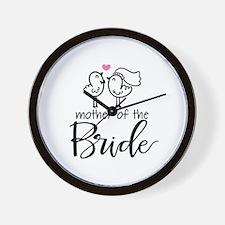 Mother of the Bride - Bird Couple Wall Clock