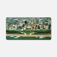 St. Louis Arch and Skyline Aluminum License Plate