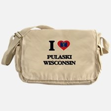 I love Pulaski Wisconsin Messenger Bag