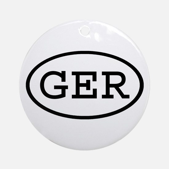 GER Oval Ornament (Round)