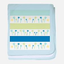 Lagoon Palm Stripes baby blanket
