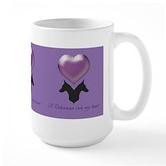 """A Doberman Stole My Heart"" Large Mug"