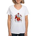 Mayor Family Crest Women's V-Neck T-Shirt