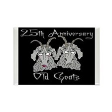 Old Goat 25th Anniversary Rectangle Magnet
