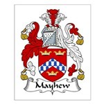 Mayhew Family Crest Small Poster