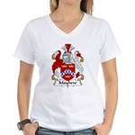 Mayhew Family Crest Women's V-Neck T-Shirt