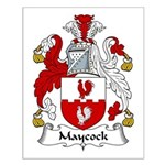 Maycock Family Crest Small Poster