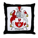 Maycock Family Crest Throw Pillow