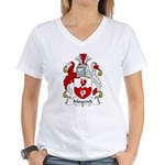 Maycock Family Crest Women's V-Neck T-Shirt