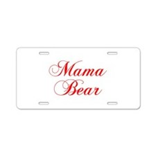 Mama Bear-Cho red 300 Aluminum License Plate